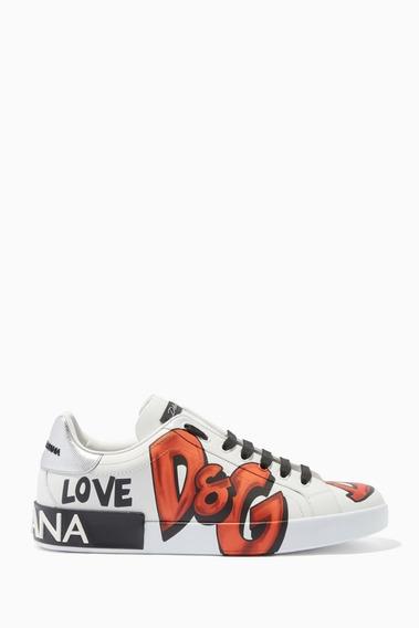Tênis Dolce & Gabbana Feminino Graffiti Portofino Couro