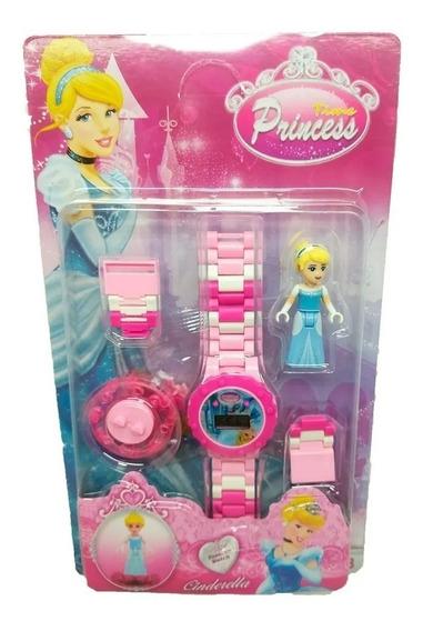 Relógio Digital Infantil + Mini Boneca Cinderela