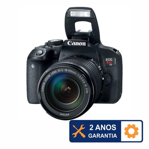 Canon T7i Wifi Com 18-135mm Is Stm + 2 Anos De Garantia + 32gb + Bolsa + Nfe