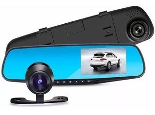 Espejo Monitor Retrovisor Camara Retroceso Y Frontal Auto