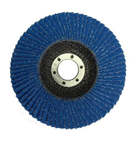 Imagen 1 de 7 de Disco Flap Lija Amoladora 115mm Zirconio Grano 40 60 80 120