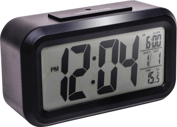 Relógio Digital Mesa Led Despertador Luz Noturna Pilha