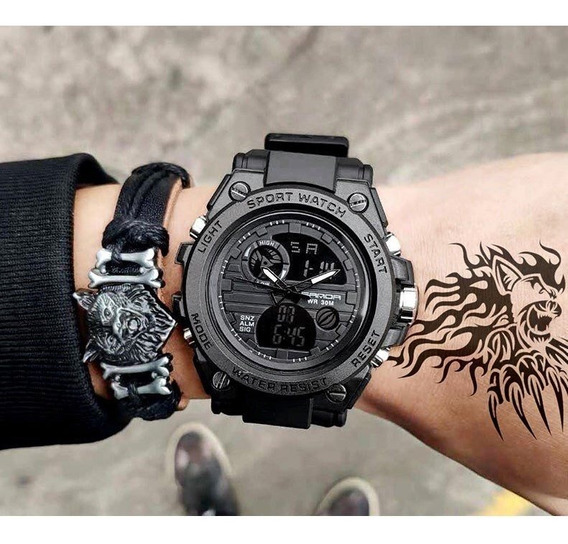 Relógio De Pulso Sanda Shock New Militar