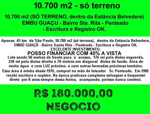 Imagem 1 de 8 de 10700 M2 - Embu Guaçu - Só Terreno