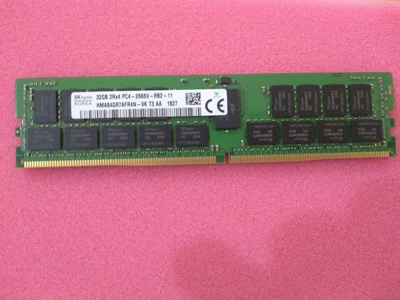 Memoria 32gb 2rx4 Pc4-2666v Rb2 11 T440 R440 R540 R640 R740