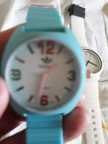 Relógios Feminino Analógico Pulseira Silicone Azul Ou Branco