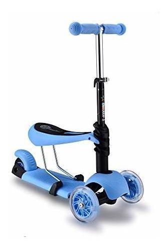 Imagen 1 de 2 de Modenny 3 En 1 Scooter Para Niños Triciclo De Juguete Con Ba