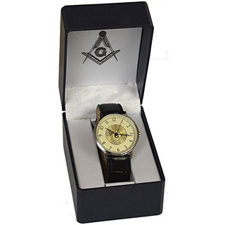 Nuevo Reloj De Muñeca De Presentacion Masonica