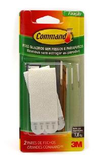 Kit 6 Fecho Command Grande C/ 2 Pares Suporta 1,8kg - 3m
