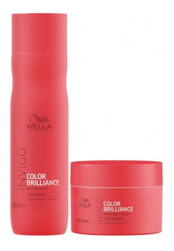 Wella Invigo Brilliance Kit Shampoo 250 Ml + Mascara 150grs.