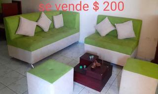 Juego De Muebles Completo Verde Y Licorera/wiskera