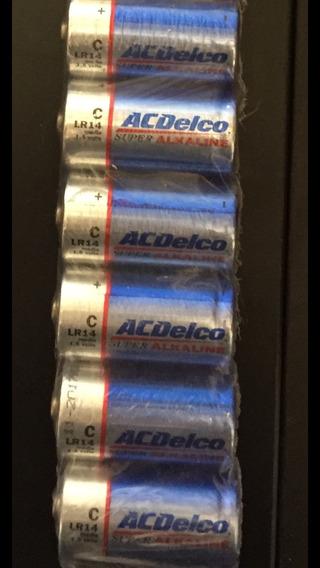 Pilhas Alcalinas Acdelco Média C. Lote Com 24u. Frete Grátis