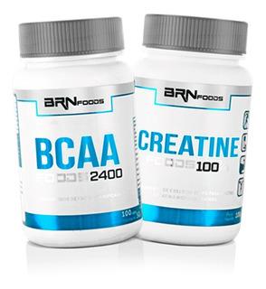 Kit Bcaa 100 Caps + Creatina 100g - Brn Foods / Com Nf