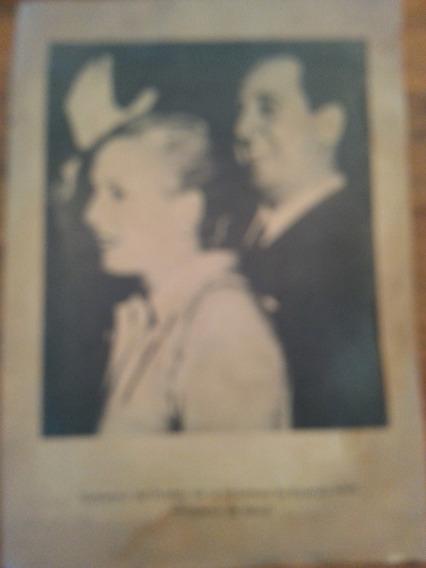 Antiguo Cartel Afiche Peron Y Evita 45 X 35 Cm