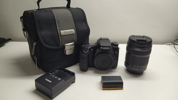 Câmera 70 D Digital Canon- Com Objetiva 18x135 + Bolsa
