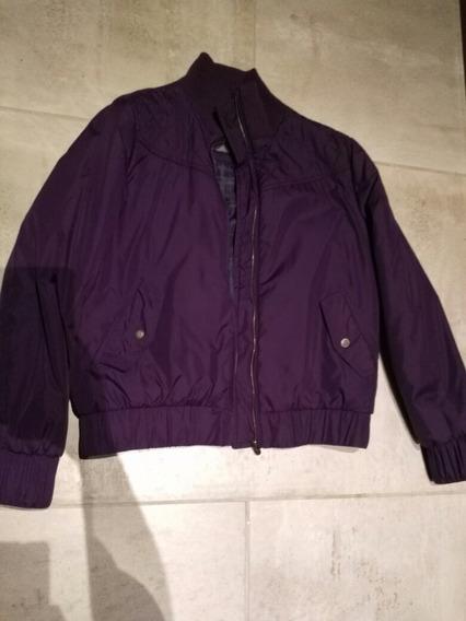 Campera Yagmour Mujer Inflable Estilo Bomber Color Violeta