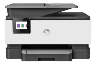 Impresora a color multifunción HP OfficeJet Pro 9010 con wifi 100V/240V blanca y gris