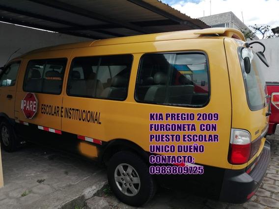 Furgoneta Con Puesto Escolar Kia Pregio 2009
