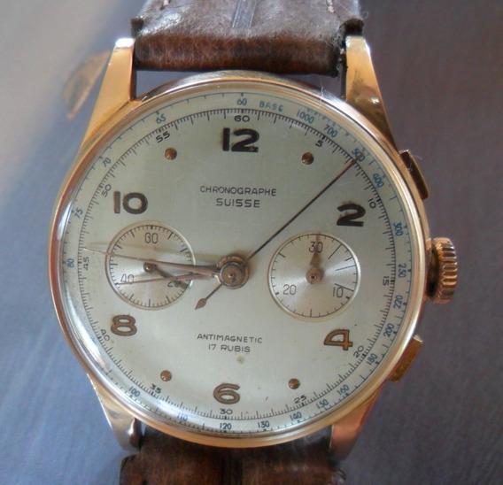Relogio Chronographe Suisse Ouro 18k - Pulseira Reserva !!!!