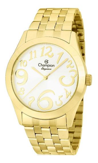 Relógio Champion Feminino Analógico Dourado Cn26635h