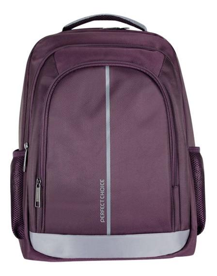 Mochila Perfect Choice Laptop 15-17 Essentials Morada