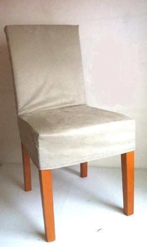 Imagem 1 de 8 de Anti Gatos -  Capas  Cadeiras - Suede Liso - Kit 06 Unidades