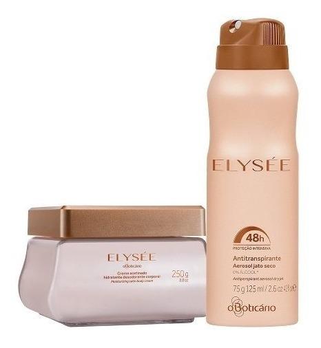 Kit Elysee Boticário - Creme Acetinado E Desodorante