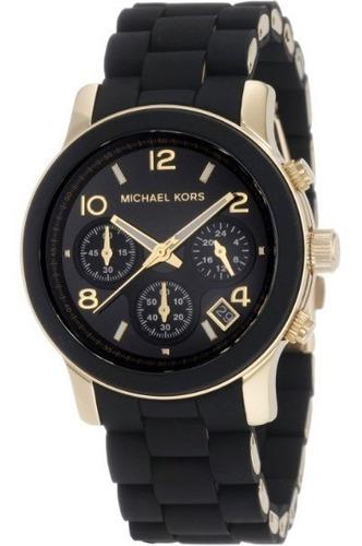 Imagen 1 de 5 de Reloj Michael Kors Mk5191 Negro Y Dorado Nuevo En Caja