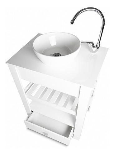 Vanitory 100% Laqueado Blanco Oscuro 60cm (mueble Solo)