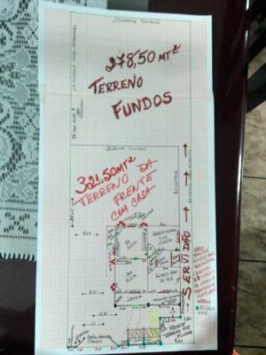 Terreno Fundos 278,50mt2