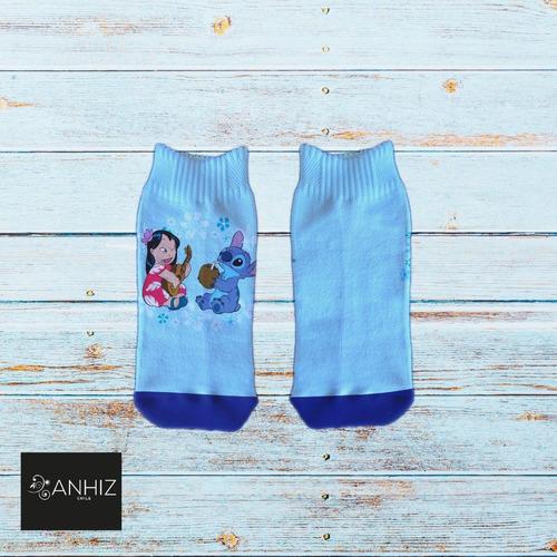 Imagen 1 de 10 de Calcetines Personalizados Divertidos Stitch