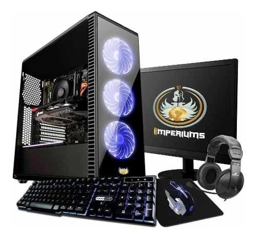 Pc Gamer Completo Intel G5400 8gb, Rx570 4gb Novo Barato Pro