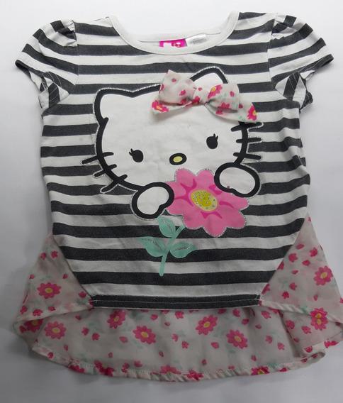 Camiseta Infantil Hello Kitty