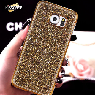 Capa Case Samsung S8 Plus G955 Dourado Strass Luxo Brilho