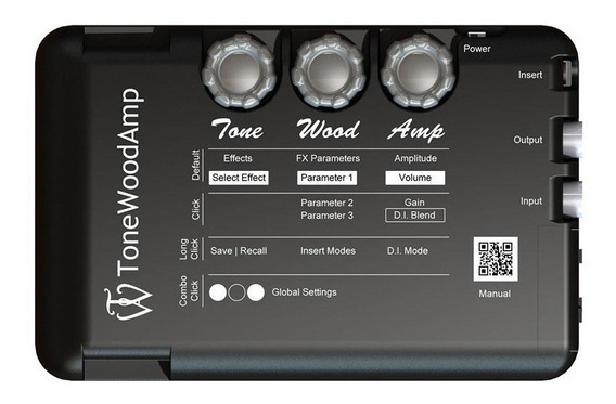 Efectos Ampli P/ Guitarra Acustica Tonewood Twamp X-brace