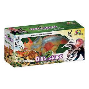 Dinossauro Tricerátopo Com Luz, Som E Movimento 28 Cm