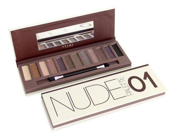 01 Paleta Sombra Nude 02 Vivai Make Up Studio Aeio@