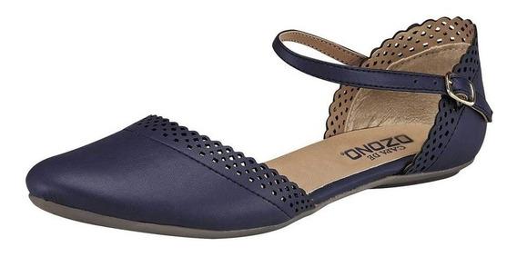 Zapato Casual Dama Capa De Ozono 180491-2 Azul 22-26 T4