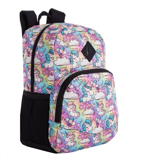 Mochila Escolar Canvas Estampada Quaglia Qe135