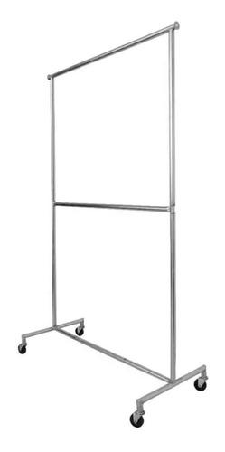 Rack Tipo Closet Viajero Colgador Ropa 2 Niv. 1.00m L
