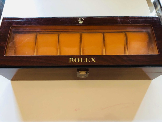 Estuche Madera Para 6 Relojes Rolex