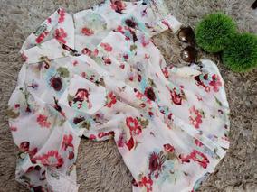 Blusa Feminina Manga 3/4 Floral Vermelho