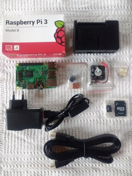 Kit Raspberry Pi 3 Modelo B + Kit Arcade + Kit De Som E +