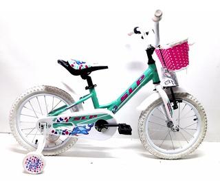 Bicicleta Para Chicas Dolphin Rodado 16 Aluminio
