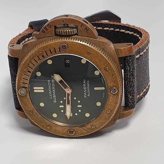 Panerai Luminor Submersível Bronze Pam382 - Noobwatch - Aaa