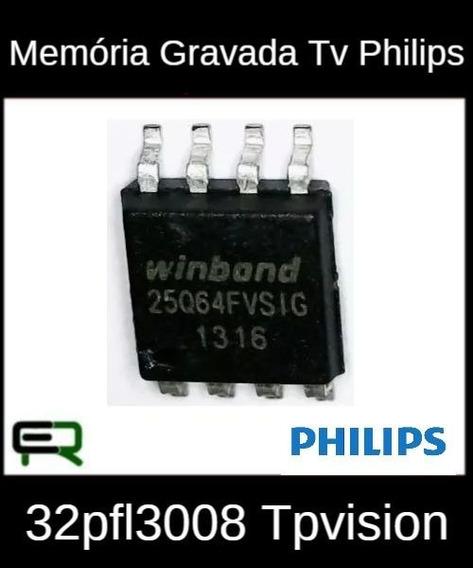 Memória Gravada Tv Philips 32pfl3008 Tpvision Frete R$12
