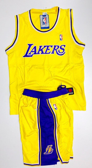 Uniforme Basketball Baloncesto Nba Angeles Lakers Adulto