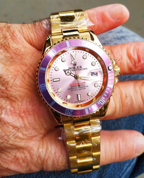 Relógios Rolex Feminino Rosa E Dourado Oyster Perpetual