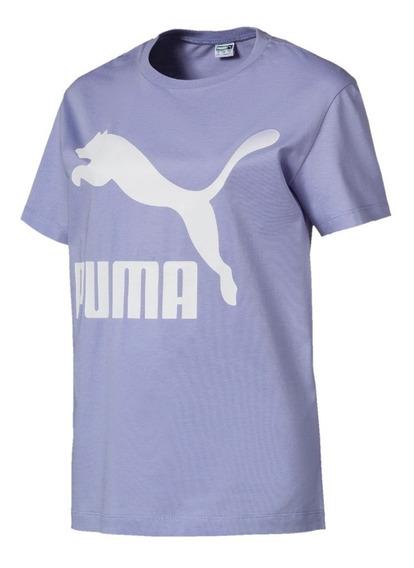 Remera Puma Classic Logo Lil/bla De Mujer