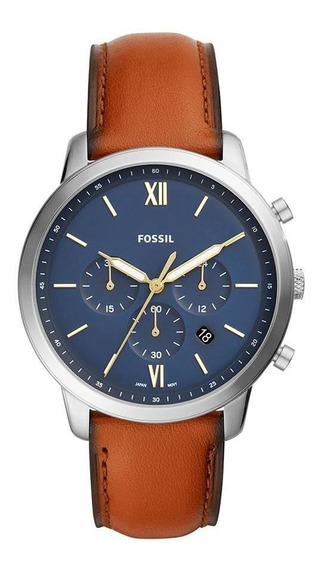 Relógio Masculino Fossil Neutra Chrono Prata - Original